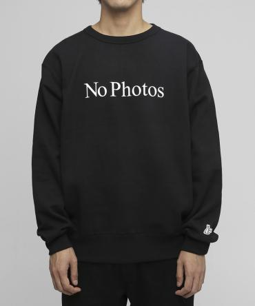 No Photos Sweatshirts[FRC244]   *ブラック*