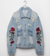 The Fact Rose Denim Blouson[LEJ223] *ブルー×レッド*