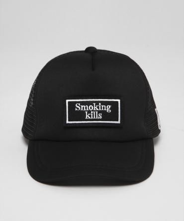 """Smoking kills"" Mask Heads Cap[FRA187]   *ブラック/WH*"