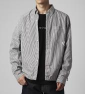 Icon stripe coaches shirt *ブラック*