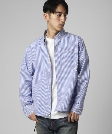 Icon stripe coaches shirt *サックスブルー*