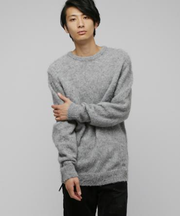 Mohair knit tops *グレー*