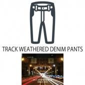 TRACK WEATHERED DENIM PANTS