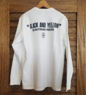 BLACK AND YELLOW L/S *ホワイト*