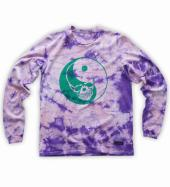 Skull yin yang Long-sleeve tee   *パープル/グリーン*