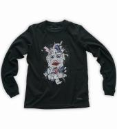 Catoon chainsaw massacre Long-sleeve tee   *ブラック*
