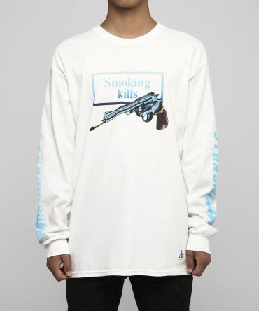 Smoking Gun Longsleeve T-shirt [ FRC245 ] *ホワイト*