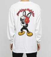 Masked Rabbit Long sleeve T-shirt [ FRC594 ]*ホワイト*