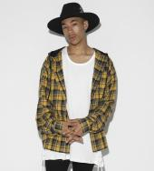 Dooking hood Over Sized Check Shirt[LES143] *イエロー*