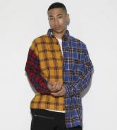 Crazy pattern Asymmetry Check Shirt[LES144]*マルチ*