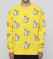 Rabbits Pattern Knit Top [ FRK004 ] *イエロー*