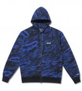 GHOSTLION CAMO FULL ZIP PARKA *ブルー*