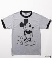 BxH MICKEY TRIM TEE *グレー×ブラック*