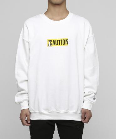 """CAUTION""Embroidery Sweatshirt[ FRC355 ] *ホワイト*"