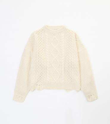 BIG CABLE KNIT *オフホワイト*