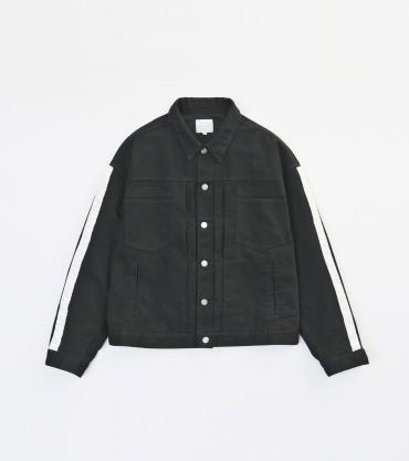 WIDE DENIM JACKET *ブラック*