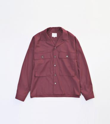 MILITARY WIDE SHIRTS *エンジ*