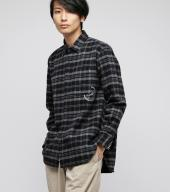 Big flannel shirts *ブラック*