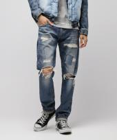 Remake regular straight denim pants
