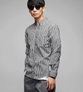 GINGHAM CHECK B/D SHIRTS *BK*