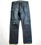 ONE YEAR WASH WIDE STRAIGHT DENIM PANTS