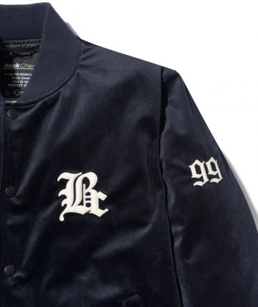 VELOUR STADIUM JACKET *ネイビー*