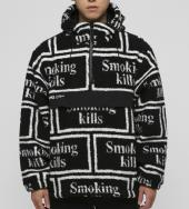 Smoking kills Logo Boa Anorak Jacket[FRJ047]*ブラック*