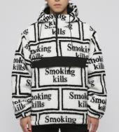 Smoking kills Logo Boa Anorak Jacket[FRJ047]*ホワイト*