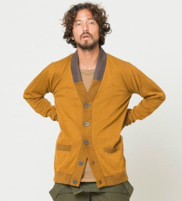 COMPOUNDED KNIT CARDIGAN *マスタード*