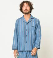 STRIPE PAJAMA SHIRTS *ネイビー*