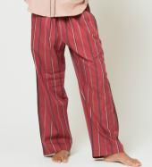 STRIPE PAJAMA PANTS *ワインレッド*