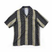 VINTAGE TEXTILE BLACK ALOHA SHIRTS SHORT SLEEVE