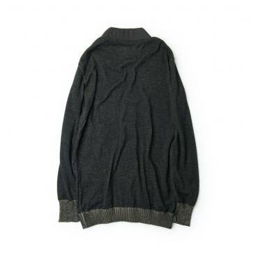 COMPOUNDED KNIT CARDIGAN *チャコールグレー*