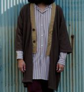 COMPOUNDED KNIT LONG CARDIGAN *ブラウン*