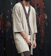 COMPOUNDED KNIT LONG CARDIGAN *ベージュ*