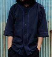 STRETCH BASEBALL SHIRTS  *ブラック*
