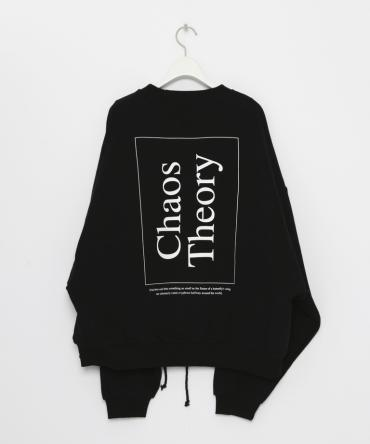 Chaos Theory Over Sized Sweat shirt [LEC786]*ブラック*