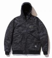GHOSTLION CAMO CORDURA HOODED JACKET *グレーカモ*