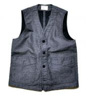 40's PRISONER VEST WABASH DAMAGE *ブラック*