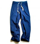 INDIGO DOBBY EASY PANTS **インディゴ*
