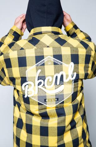 OIL LOGO QUILTING SHIRTS *イエロー*