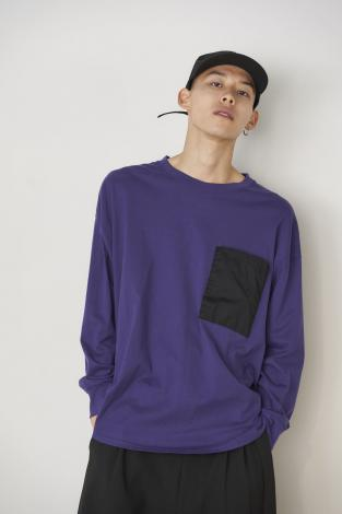 L/S BIG POCKET TEE *ブラック*