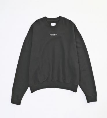 WIDE LOGO SWEAT *ブラック*