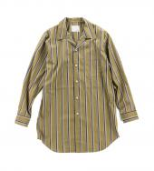 STRIPE LONG SHIRTS *ブラウン*