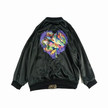 JUNKIE HEART SATIN JACKET