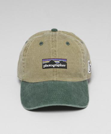 photographer Embriodery panel cap [FRA256] *ベージュ*