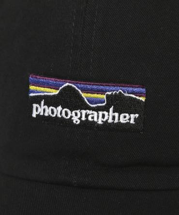 photographer Embriodery panel cap [FRA256] *ブラック*