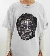 LEATHER FACE MASK TEE *ライトグレー*