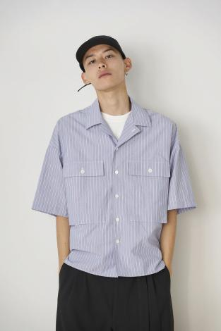 STRIPE MILITARY SHIRTS *レッド*